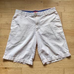 Men's IZOD Orange Stripe Golf Dress Bermuda Shorts